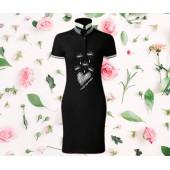 Dámske šaty s golierom - PÚPAVA