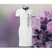 Dámske šaty s golierom - VTÁČIKY
