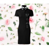 Dámske šaty s golierom - SRDCE