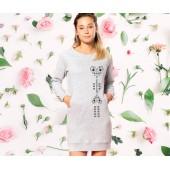 Šaty s okrúhlym výstrihom - SRDCE