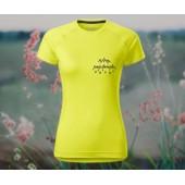 Jemné športové strečové tričko
