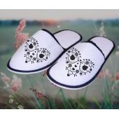 Froté bavlnené papuče - Srdce