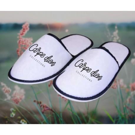 Froté bavlnené papuče - Carpe Diem