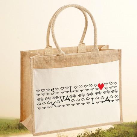 Jutová nákupná taška SLOVAKIA