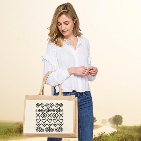 Jutová nákupná taška s motívom ČIČMANY