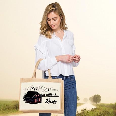 Jutová nákupná taška s motívom ŽDIAR