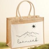 Jutová nákupná taška s motívom LOMNIČÁK