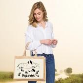 Jutová nákupná taška s motívom KRIVÁŇ