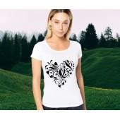 bavlnené alebo funkčné tričko Folklórne srdce