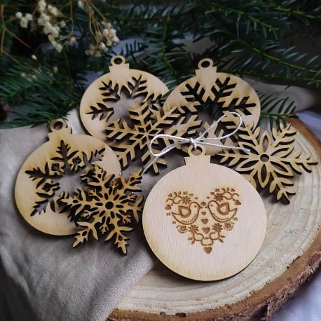 Vianočné ozdoby SRDCE