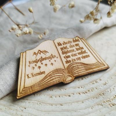 Magnetka/ odznak/ kľúčenka kniha KUZMÁNY