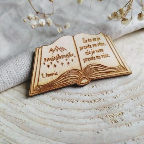 Magnetka/ odznak/ kľúčenka kniha JANOVIC