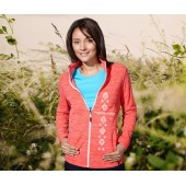 Melírovaná fleecová bunda v piatich farbách