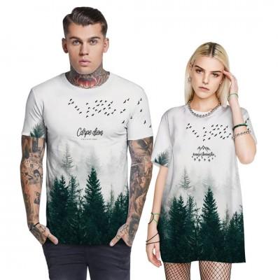 Veľmi pohodlné a elastické tričko HORY LESY
