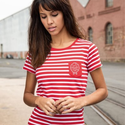 Pruhované tričko OVEČKA z bio bavlny