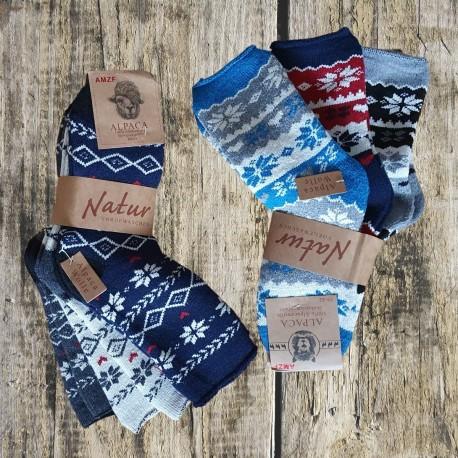 3 páry super teplých ponožiek z vlny ALPACA