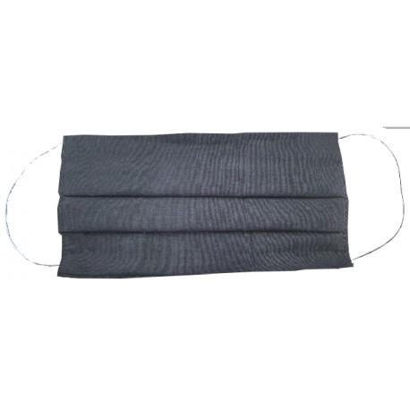 Rúško obdĺžnik čierne bez potlače