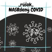 Rúško oválne čierne - NASRdený COVID